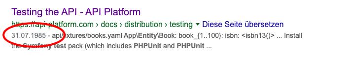 API Platform seit 1985
